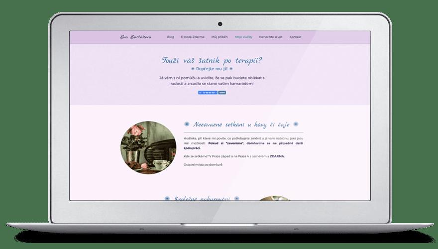 Re-design webu Terapie šatníku